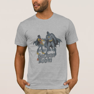 Batman And Robin Distressed Graphic T-Shirt