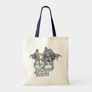 Batman And Robin Distressed Graphic Tote Bag