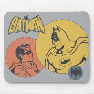 Batman And Robin Graphic - Distressed Mouse Pad