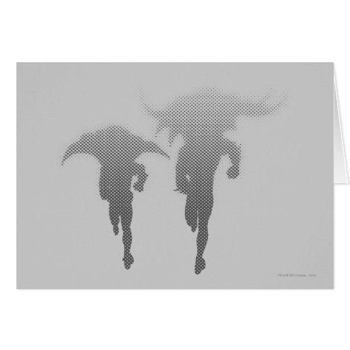 Batman And Robin Halftone Gradient Greeting Card