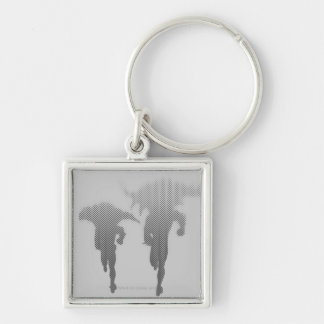 Batman And Robin Halftone Gradient Keychain