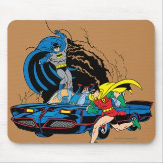 Batman And Robin In Batcave Mouse Pad