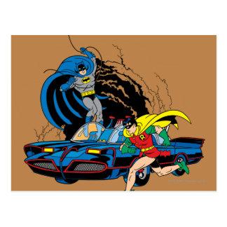 Batman And Robin In Batcave Postcard