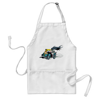 Batman And Robin In Batcycle Adult Apron