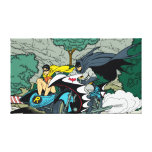 Batman And Robin In Batcycle Canvas Print