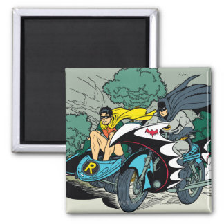 Batman And Robin In Batcycle Magnet