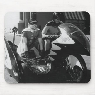 Batman and Robin in Batcycle Mouse Pad