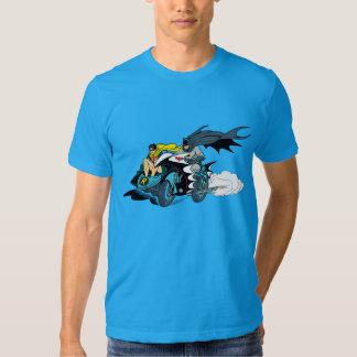 Batman And Robin In Batcycle T Shirt