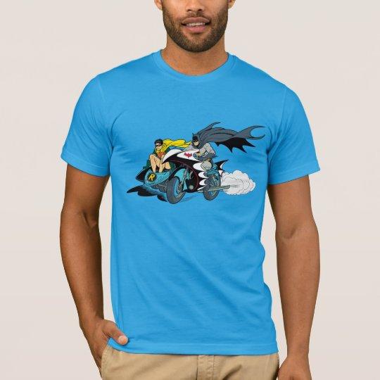 Batman And Robin In Batcycle T-Shirt