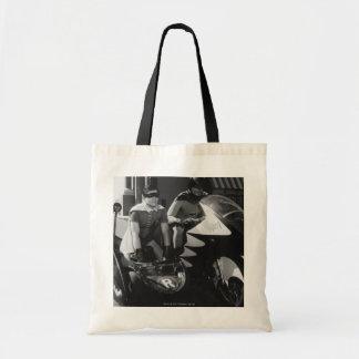 Batman and Robin in Batcycle Tote Bag