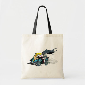 Batman And Robin In Batcycle Tote Bag