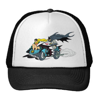 Batman And Robin In Batcycle Trucker Hat