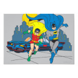 Batman And Robin Running 5x7 Paper Invitation Card