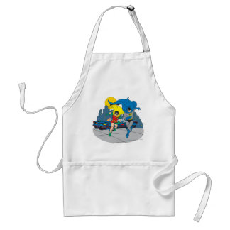 Batman And Robin Running Adult Apron