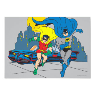 Batman And Robin Running Card