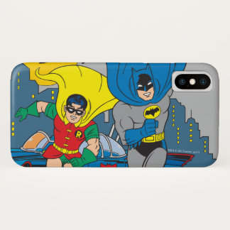 Batman And Robin Running iPhone X Case