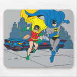 Batman And Robin Running Mouse Pad