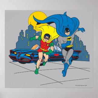 Batman And Robin Running Poster