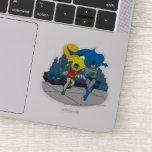 Batman And Robin Running Sticker