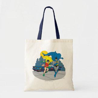 Batman And Robin Running Tote Bag