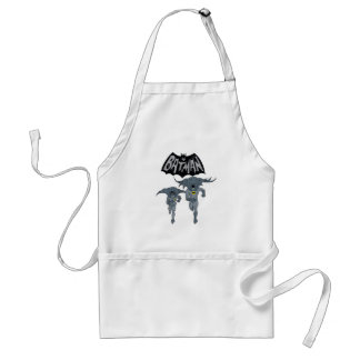 Batman And Robin With Logo Distressed Graphic Adult Apron