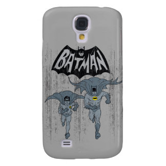 Batman And Robin With Logo Distressed Graphic Galaxy S4 Case