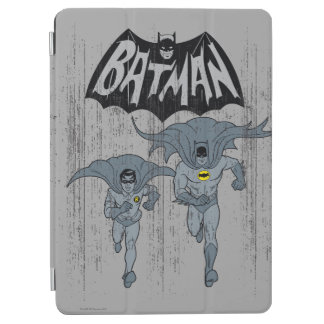 Batman And Robin With Logo Distressed Graphic iPad Air Cover