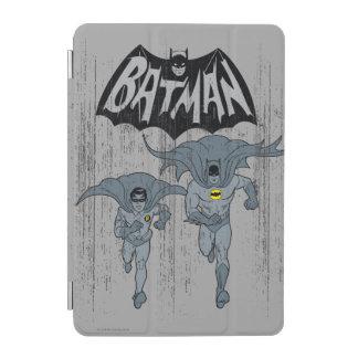 Batman And Robin With Logo Distressed Graphic iPad Mini Cover