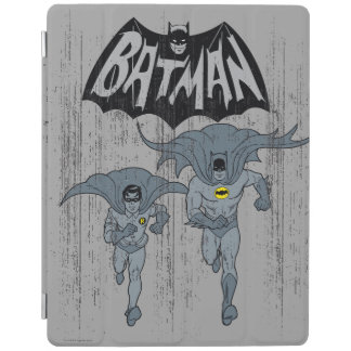 Batman And Robin With Logo Distressed Graphic iPad Smart Cover