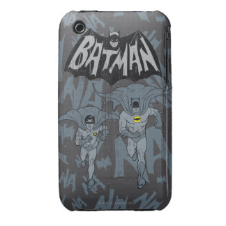 Batman And Robin With Logo Distressed Graphic iPhone 3 Cover