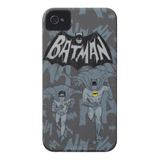 Batman And Robin With Logo Distressed Graphic iPhone 4 Case-Mate Case