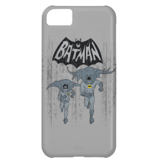 Batman And Robin With Logo Distressed Graphic iPhone 5C Case