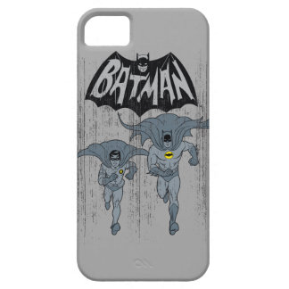 Batman And Robin With Logo Distressed Graphic iPhone SE/5/5s Case