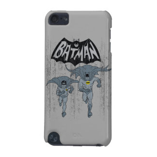 Batman And Robin With Logo Distressed Graphic iPod Touch 5G Cover