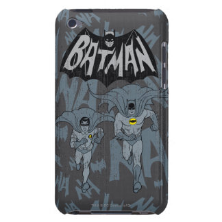 Batman And Robin With Logo Distressed Graphic iPod Touch Case-Mate Case