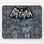 Batman And Robin With Logo Distressed Graphic Mouse Pad