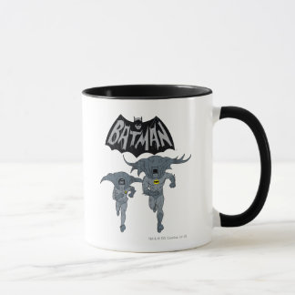 Batman And Robin With Logo Distressed Graphic Mug