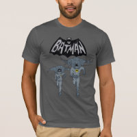 Batman And Robin With Logo Distressed Graphic T-Shirt
