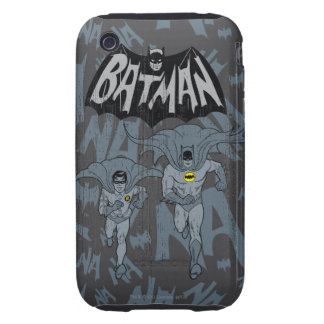Batman And Robin With Logo Distressed Graphic Tough iPhone 3 Covers
