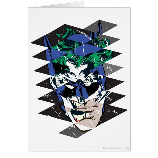Batman and The Joker Collage Card