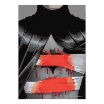 invitations, batman, bat man, comic book, batman comic cover, dc comics, super hero, superhero, bruce wayne, villains, blood, bandage, cut, chest, Invitation with custom graphic design