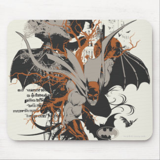 Batman and Tree Mouse Pad