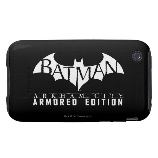 Batman: Arkham City Armored Edition BW iPhone 3 Tough Case