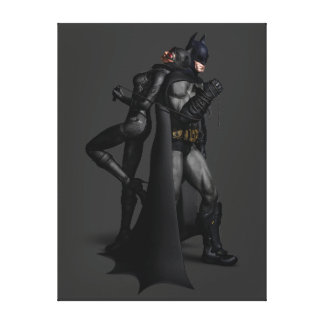 Batman Arkham City | Batman and Catwoman Canvas Print