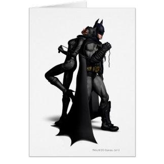 Batman Arkham City   Batman and Catwoman Card