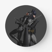 Batman Arkham City | Batman and Catwoman Round Clock