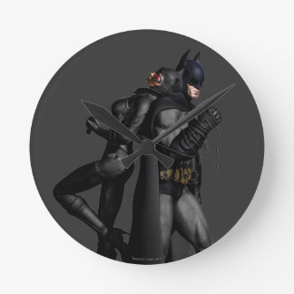 Batman Arkham City | Batman and Catwoman Round Clock