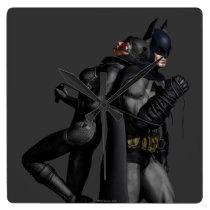 Batman Arkham City   Batman and Catwoman Square Wall Clock