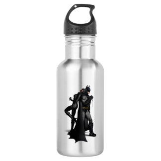 Batman Arkham City | Batman and Catwoman Stainless Steel Water Bottle