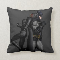 Batman Arkham City | Batman and Catwoman Throw Pillow